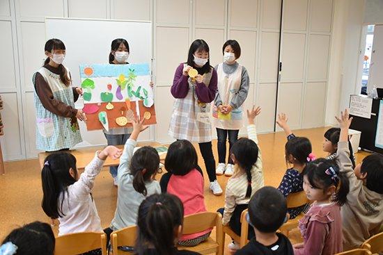 附属幼稚園で食育活動を行いました(2020/11)