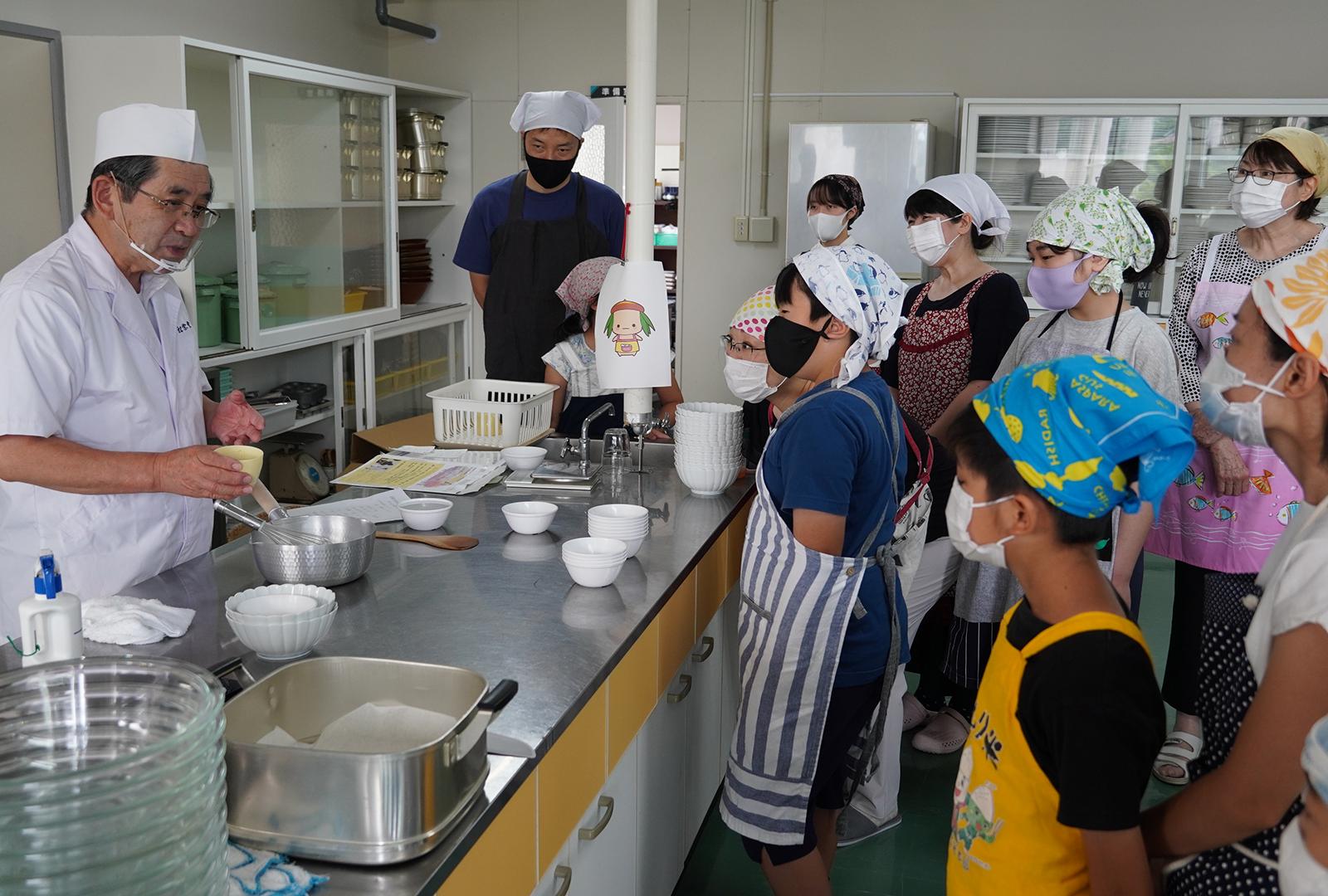 「和菓子づくり教室」を開催いたしました(2021/07/24)