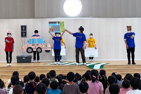「JAFドレミぐるーぷ」が浦町保育園で交通安全活動(2020/07/02)をしました